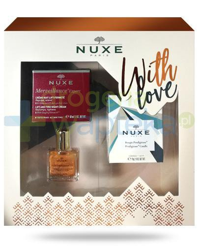 Nuxe With Love, Merveillance Expert krem liftingujący na noc 50 ml + olejek 10 ml + świe...