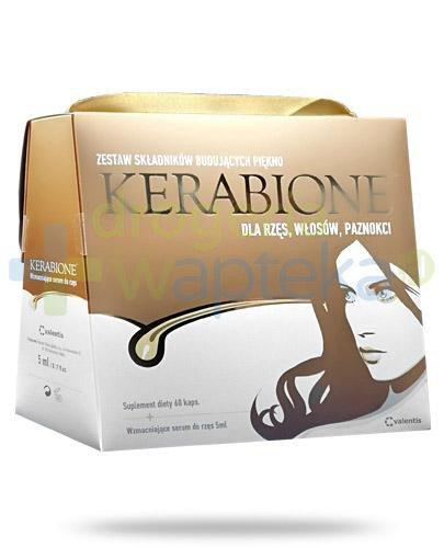 Kerabione dla włosów, paznokci i skóry 60 kapsułek + Kerabione serum wzmacniające do ...