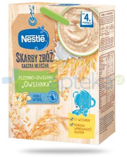 Kaszka mleczna Nestlé Skarby Zbóż pszenno-owsiana owsianka po 4 miesiącu 250 g