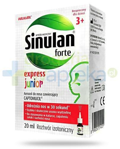Sinulan Forte Express Junior aerozol do nosa dla dzieci 3+ 20 ml