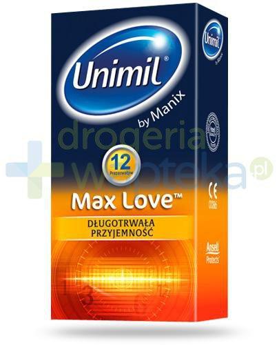 Unimil Max Love prezerwatywy 12 sztuk