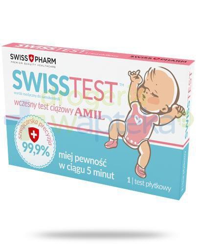 SwissTest test ciążowy płytkowy AMIL 1 sztuka