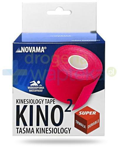Novama Kino2 taśma do kinesiotapingu 5cm x 5m kolor czerwony 1 sztuka