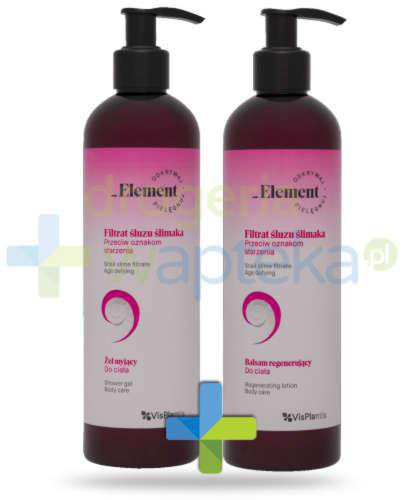 Vis Plantis _Element filtrat śluzu ślimaka przeciw oznakom starzenia, żel myjący do ci...  whited-out