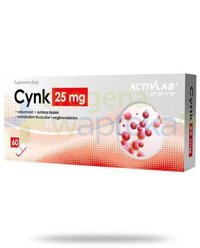Activlab Pharma Cynk 25mg 60 kapsułek  whited-out