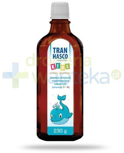 Tran Hasco Kids o smaku cytrynowym, płyn 230 g