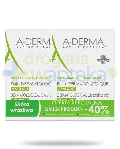 A-Derma kostka dermatologiczna 2x 100 g  whited-out