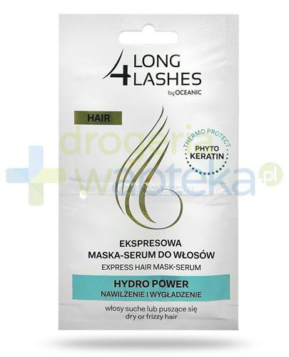 Long 4 Lashes Hair Hydro Power ekspresowa maska-serum do włosów suchych 2x 6 ml