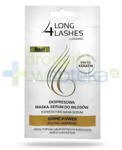 Long 4 Lashes Hair Shine Power ekspresowa maska-serum do włosów farbowanych 2x 6 ml