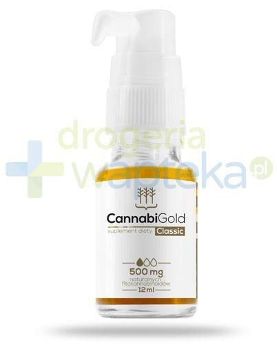 CannabiGold Classic 500mg ekstrakt CO2 z konopi włóknistych 12 ml