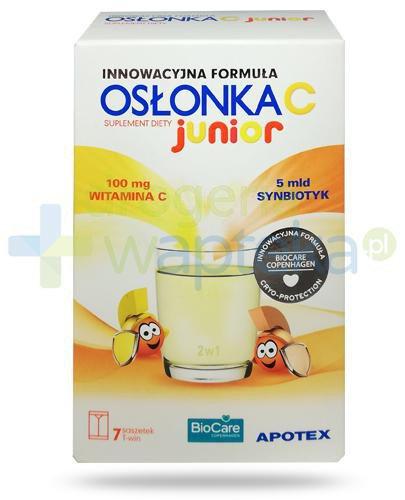Osłonka C Junior synbiotyk 7 saszetek T-win  whited-out