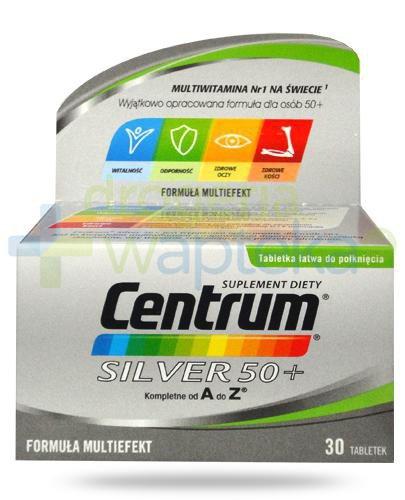 Centrum Silver 50+ Multiefekt witaminy i minerały dla seniorów 30 tabletek [Nowa formuł...