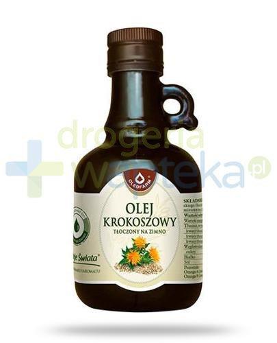 Oleofarm olej krokoszowy tłoczony na zimno, płyn 250 ml