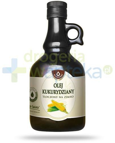 Oleofarm olej kukurydziany tłoczony na zimno, płyn 500 ml
