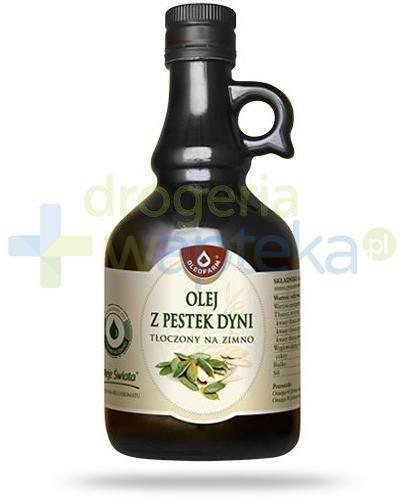 Oleofarm olej z pestek dyni tłoczony na zimno, płyn 500 ml