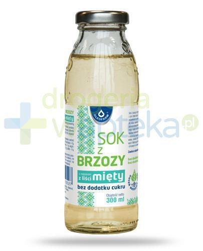 Oleofarm sok z brzozy z miętą bez dodatku cukru, płyn 300 ml