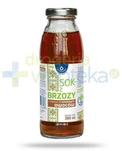 Oleofarm sok z brzozy z naparem z suszonych owoców, płyn 300 ml