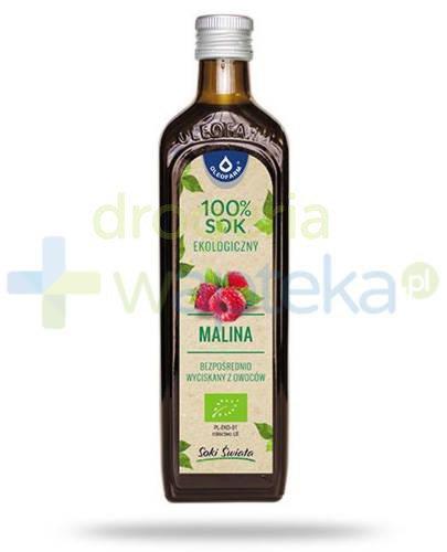 Oleofarm Malina 100% sok ekologiczny z owoców maliny 490 ml