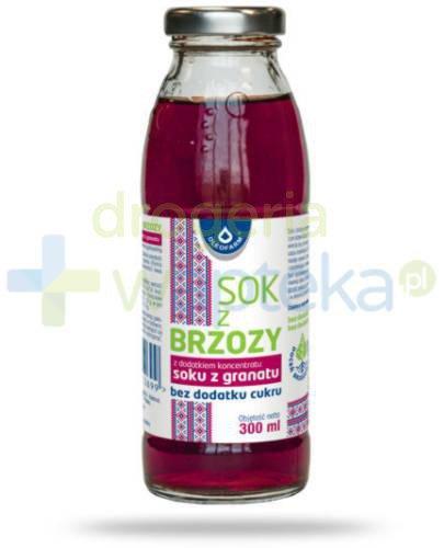 Oleofarm sok z brzozy z dodatkiem koncentratu soku granatu bez dodatku cukru, płyn 300 ml