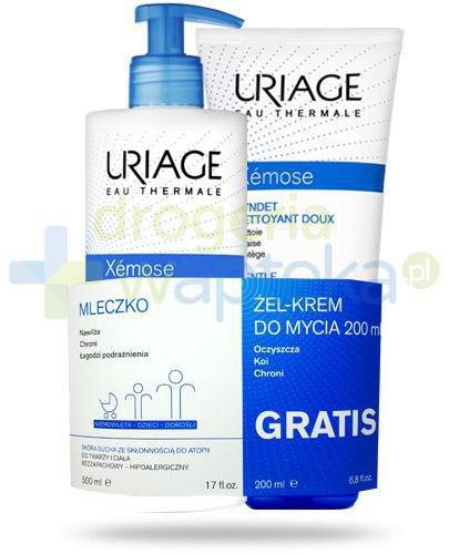 Uriage Xemose mleczko do skóry suchej 400 ml + Uriage Xemose żel krem do mycia 200 ml [Z...  whited-out
