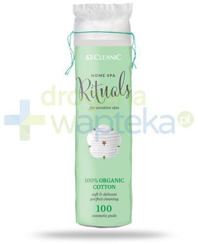Cleanic Home Spa Rituals 100% Organic Cotton płatki higieniczne 100 sztuk