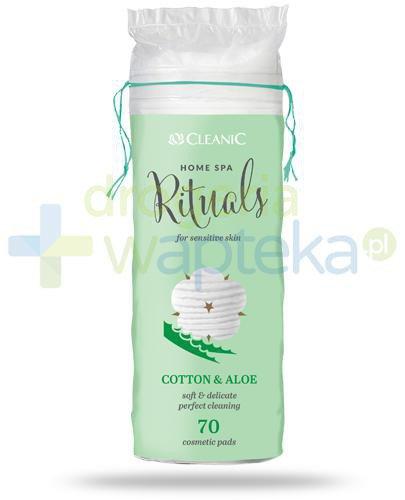 Cleanic Home Spa Rituals Cotton & Aloe płatki higieniczne 70 sztuk