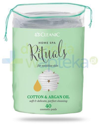 Cleanic Home Spa Rituals Cotton & Argan Oil płatki higieniczne 40 sztuk
