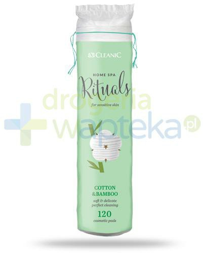 Cleanic Home Spa Rituals Cotton & Bamboo płatki higieniczne 120 sztuk