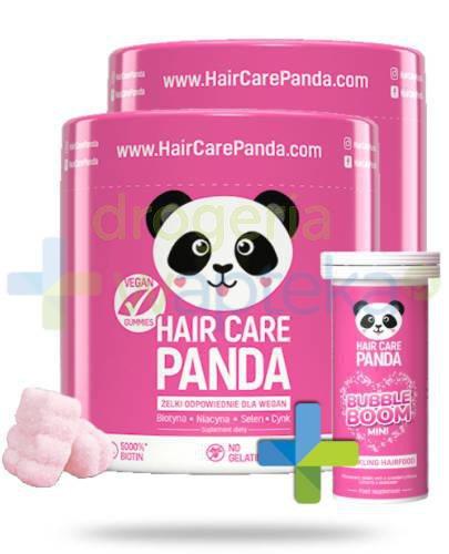 Noble Health Hair Care Panda witaminy na włosy w żelkach 2x300g  [DWUPAK] + Bubble Boom ...