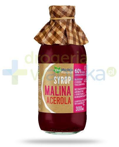 EkaMedica Malina Acerola, syrop z owoców malin i aceroli 300 ml
