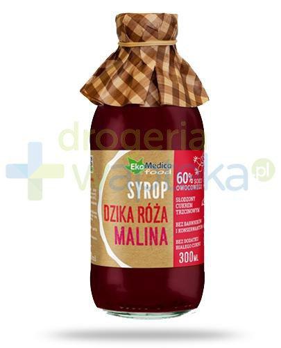 EkaMedica Dzika róża Malina, syrop z owoców malin i dzikiej róży 300 ml