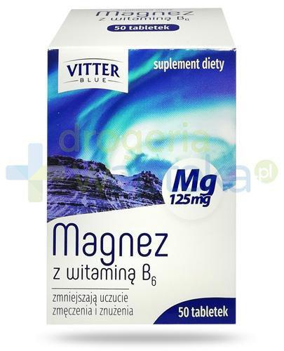 Vitter Blue Magnez z witaminą B6 50 tabletek