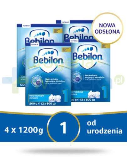 Bebilon 1 Pronutra-Advance mleko początkowe od urodzenia 4x 1200 g [CZTEROPAK] + MlekoTor...