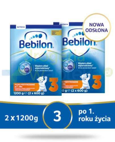 Bebilon 3 Pronutra-Advance mleko modyfikowane po 1. roku 2x 1200 g [DWUPAK]  whited-out