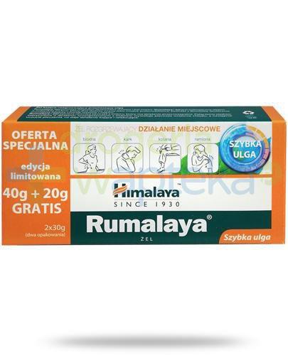 Himalaya Rumalaya żel kojąco-rozgrzewający przynoszący ulgę 40g + 20g [GRATIS]
