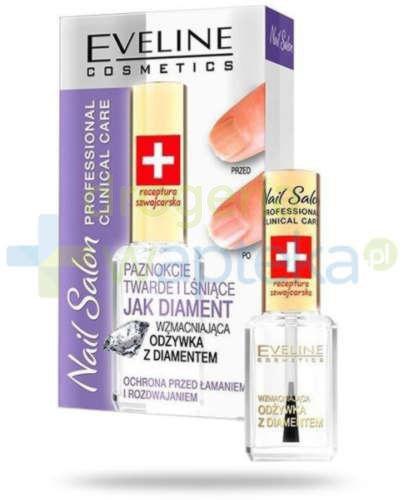 Eveline Nail Salon wzmacniająca odżywka do paznokci z diamentami 12 ml