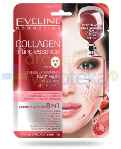 Eveline Collagen Lifting Essence silnie liftingująca kolagenowa maska anti-age na tkanini...