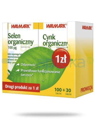 Selen organiczny 100 tabletek + Cynk organiczny 30 tabletek Walmark