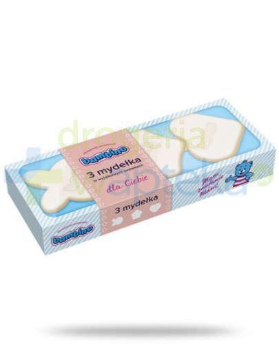 Bambino mydełka w wyjątkowych kształtach niebieskie 3 sztuki