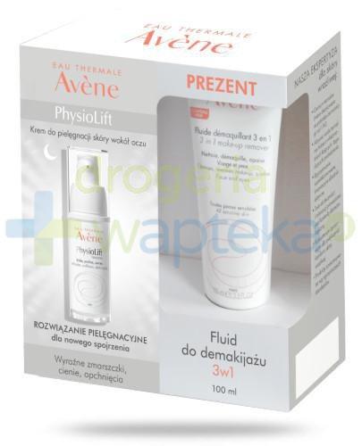 Avene Physiolift Oczy krem do pielęgnacji skóry wokół oczu 15 ml + fluid do demakijaż...