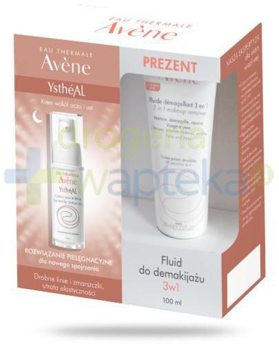 Avene YstheAL krem przeciwzmarszczkowy pod oczy 15 ml + fluid do demakijażu 3w1 100 ml [Z...