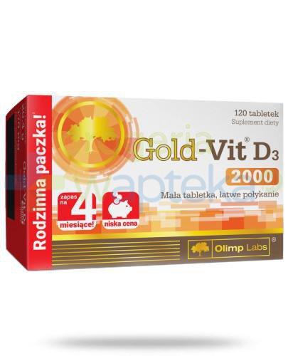 Olimp Gold-Vit D3 2000 120 tabletek