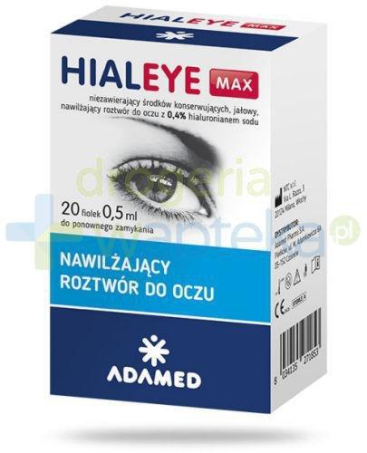 Hialeye Max 0,4% nawilżający roztwór do oczu 20x 0,5 ml