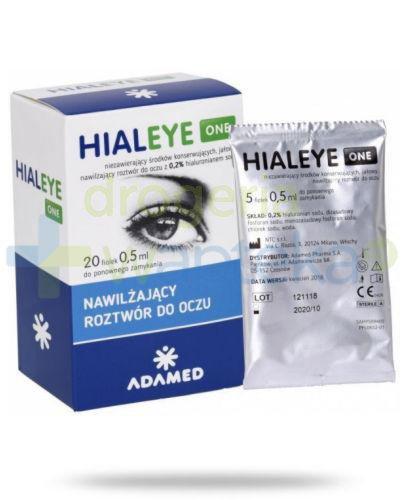 Hialeye One 0.2% nawilżający roztwór do oczu 20x 0,5 ml