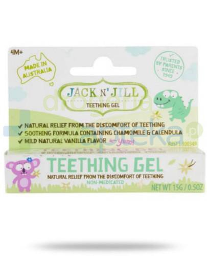 Jack & Jill naturalny żel łagodzący ząbkowanie 15 g