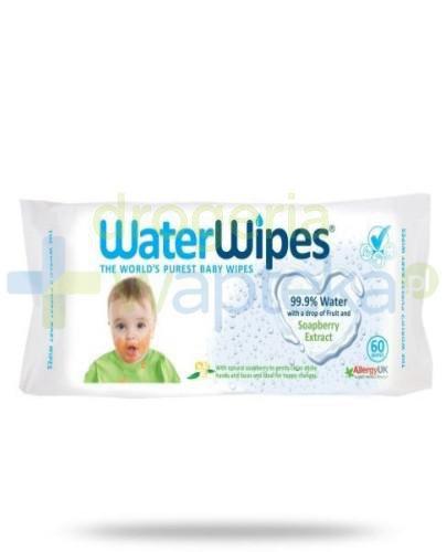 WaterWipes chusteczki nasączane czystą wodą z dodatkiem wyciągu z orzechów mydlanyc...