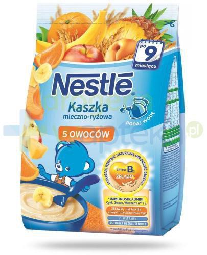 Kaszka mleczno-ryżowa Nestlé 5 owoców po 9 miesiącu 230 g