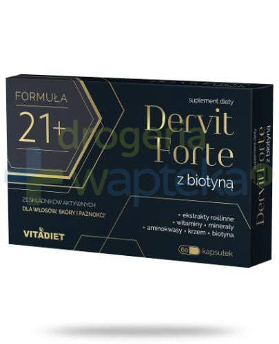VitaDiet Dervit Forte z biotyną 60 kapsułek