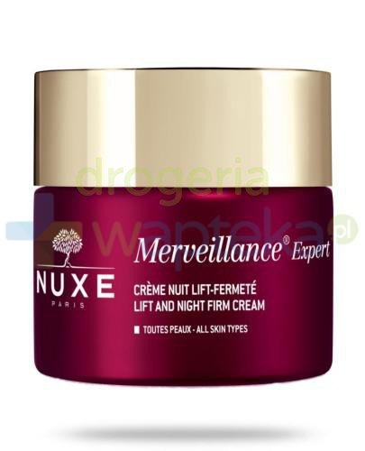 Nuxe Merveillance Expert krem liftingujący i ujędrniający na noc 50 ml  + Krem do rą...