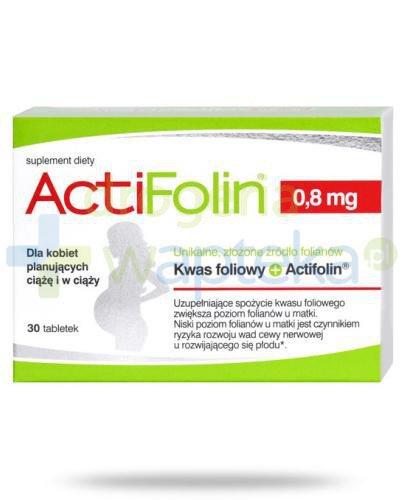 ActiFolin 0,8 mg 30 tabletek Polski Lek